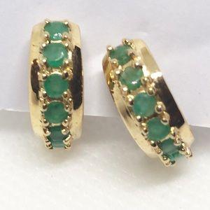 Jewelry - Jade Hoop Earrrings    J14